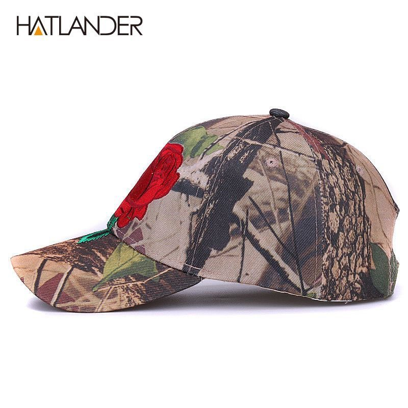 new style quite nice various colors [HATLANDER]embroidery floral baseball caps for men women sun hats  camouflage fitted gorras adjustable outdoor sports camo cap » Cap Shop  Store | FREE ...