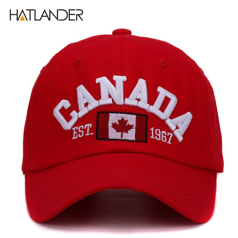 Hatlander brand Canada letter embroidery baseball caps cotton gorra ... 25d3da0c7dd