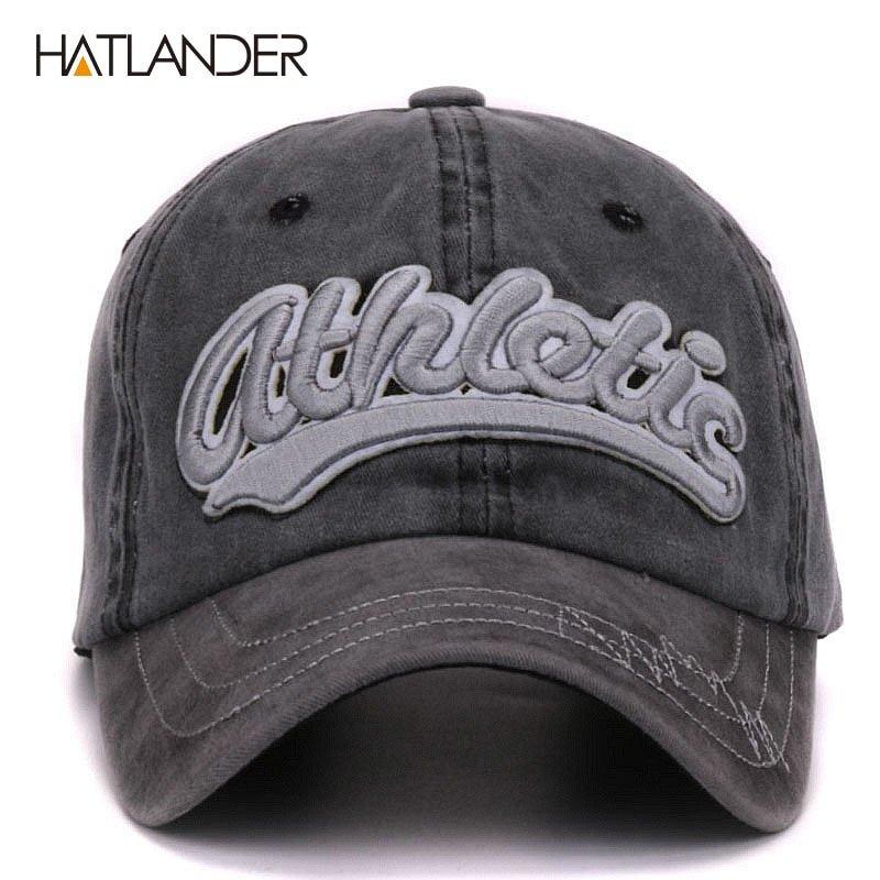 a9cbfaa0944 Hatlander vintage cotton washed baseball caps men casual sports hats ...