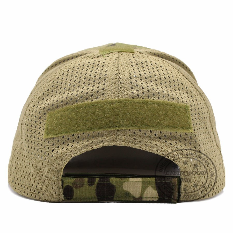 MESH W//LEATHER US AIR FORCE CAP HAT ROUND CAMO BLACK
