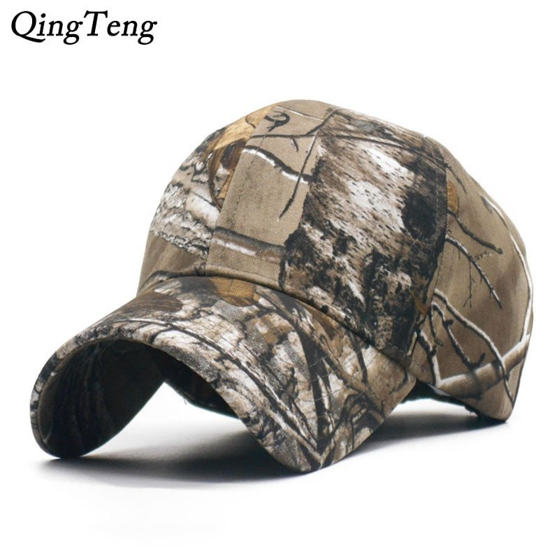 6fa9802898c Men s Brand 100% Cotton Camouflage Hunting Baseball Cap Fishing Tactical  Outdoor Camo Peaked Cap Sunshade Hiking Hat 2018. Sale! 🔍. https   capshop. store
