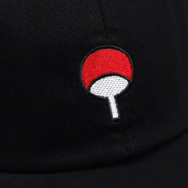 100% Cotton Japanese Anime Naruto Dad Hat Uchiha Family Logo Embroidery Baseball Caps Black Snapback Hat Hip Hop for Women Men 5
