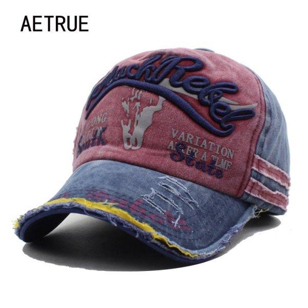 AETRUE Brand Men Baseball Caps Dad Casquette Women Snapback Caps Bone Hats For Men Fashion Vintage Hat Gorras Letter Cotton Cap 2