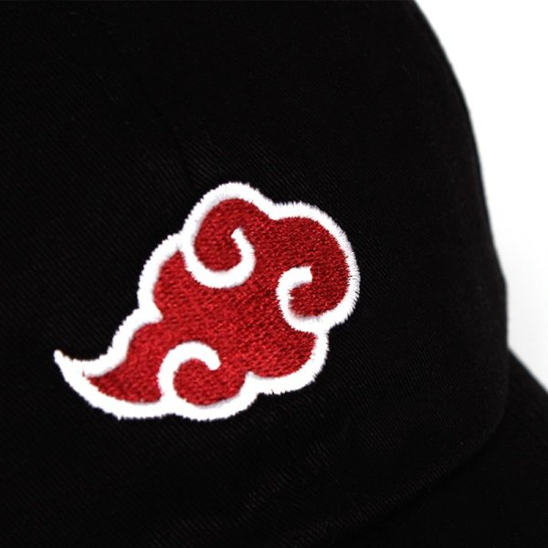 Anime Lovers Akatsuki Logo Dad Hat Uchiha Family Logo 100% Cotton Embroidery Baseball Caps Black Snapback Hat Red Cloud 10