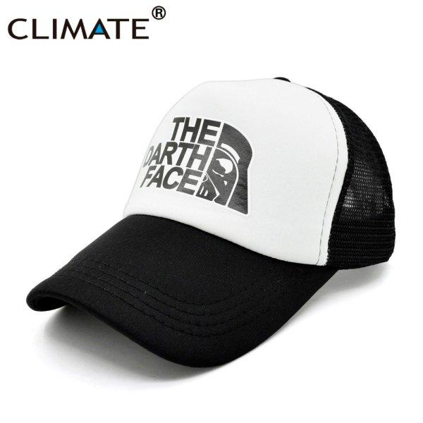 CLIMATE Darth Trucker Cap Star Darth Wars Funny Caps Men The Darth Face Hat Baseball Cap Cool Summer Mesh Net Cap Hat for Men 10