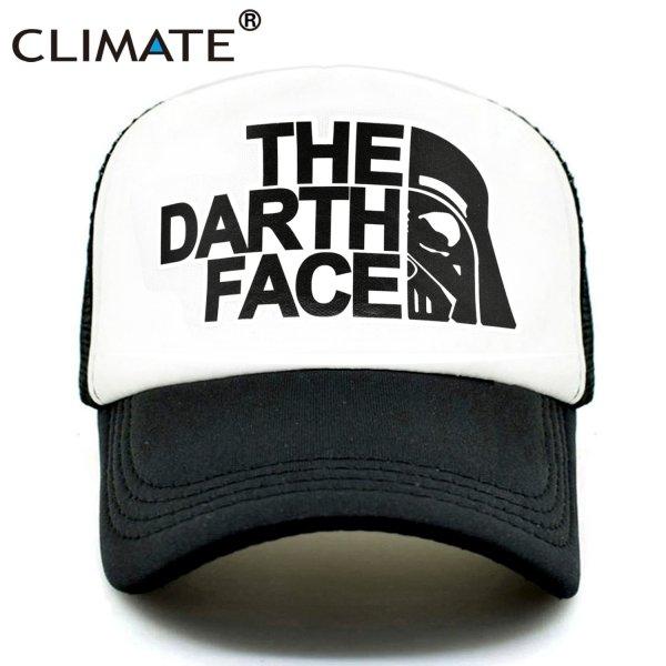 CLIMATE Darth Trucker Cap Star Darth Wars Funny Caps Men The Darth Face Hat Baseball Cap Cool Summer Mesh Net Cap Hat for Men 2