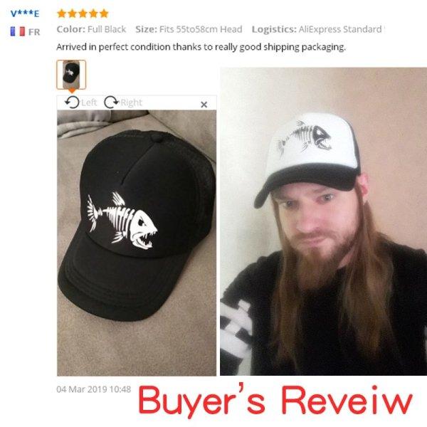 CLIMATE Fishbone Trucker Cap Men Fishing Skeleton Fish Bone Cap HipHop Baseball Caps Summer Fisher Man Mesh Caps Hat for Men 2