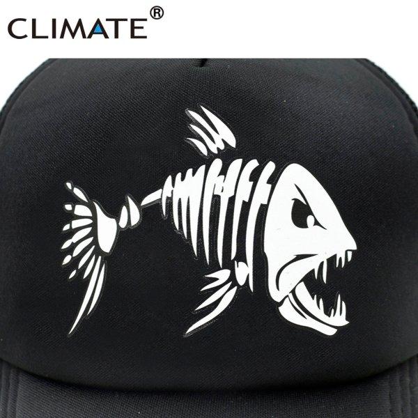 CLIMATE Fishbone Trucker Cap Men Fishing Skeleton Fish Bone Cap HipHop Baseball Caps Summer Fisher Man Mesh Caps Hat for Men 4