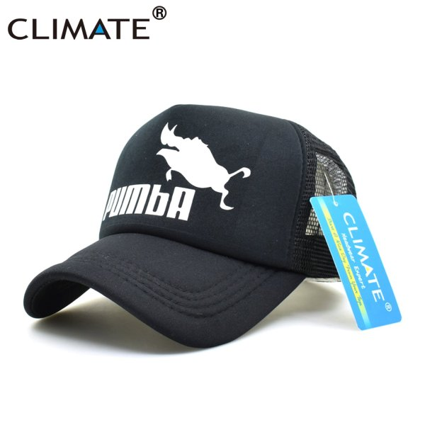 CLIMATE Funny Pumba Trucker Cap Lion King Cap Hakuna Matata Hat Men Baseball Caps Cool Summer Mesh Trucker Cap Hat for Men 8