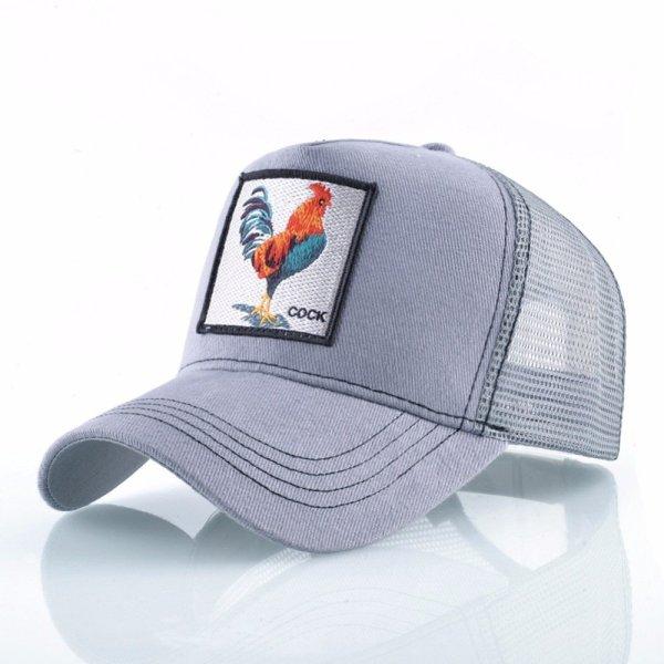 Cock Embroidery Baseball Cap Men Women Snapback Caps Breathable Mesh Hip Hop Hats Unisex Casual Eat Chicken Bone Casquette 10