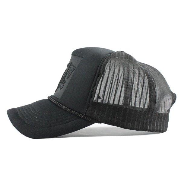 [FLB] 2019 Hip Hop Black leopard Print Curved Baseball Caps Summer Mesh Snapback Hats For Women Men casquette Trucker Cap 6