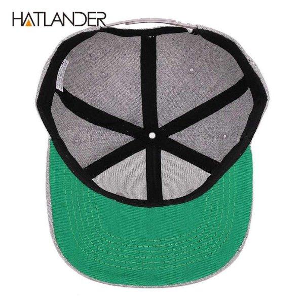 [HATLANDER]Maple solid cotton snapback caps women's flat brim hip hop cap outdoor baseball cap bone gorras mens caps and hats 6