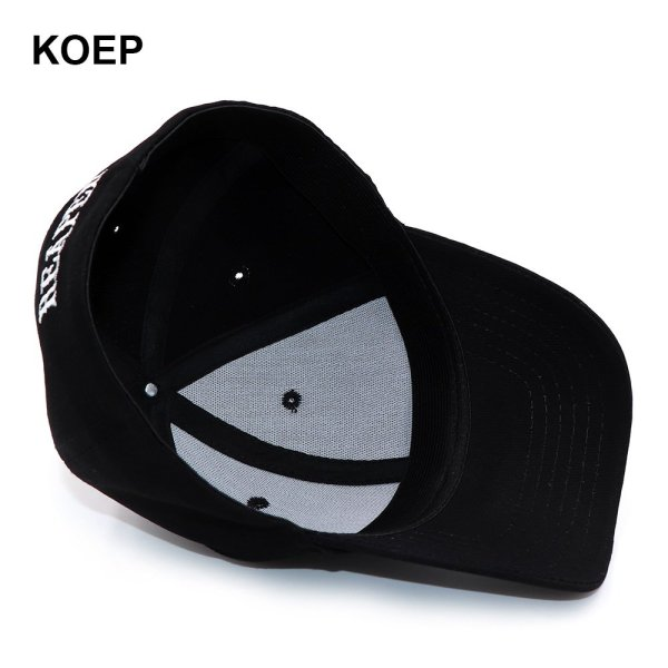 KOEP SOA Black Hats Sons Of Anarchy For Reaper Crew Fitted Baseball Cap Women Men Letters Embroidered Hat Hip Hop Hat For Men 6