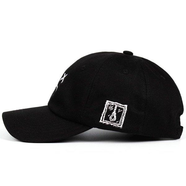 Lil Peep Dad Hat Embroidery 100% Cotton Baseball Cap Sad face Hat xxxtentacion Hip Hop Cap Golf Love lil.peep Snapback Women Men 4