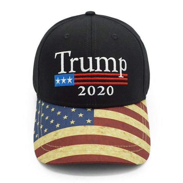 New Vintage Trump 2020 Hat USA Flag Baseball Cap Men Women Snapback Hats Embroidery Bone Unisex Casual Trump Snapback Cap Gorras 2