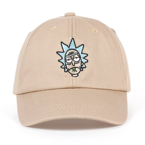 Rick and Morty hat collection Crazy Rick Baseball Cap American Anime Cotton Pickle Rick Dad Hat Embroidery Snapback Anime Cap 2