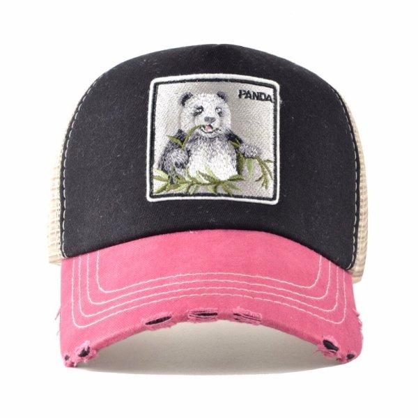 Unisex sun hats for men Hip Hop Hat Breathable Mesh Baseball Caps Women Embroidery panda Snapback caps Summer Gorras 4