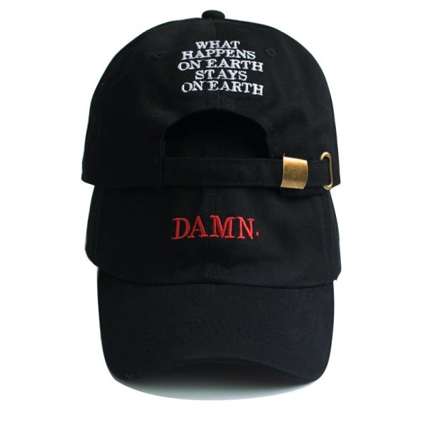 Unisex Spring summer DAMN Hats Embroidered Earth Dad Hat Hip Hop cap Kendrick lamar Rapper Snapback hats Baseball Cap wholesale 2