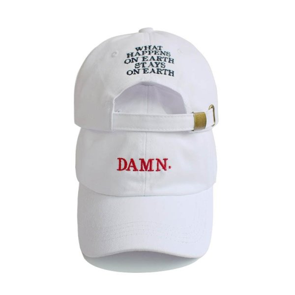 Unisex Spring summer DAMN Hats Embroidered Earth Dad Hat Hip Hop cap Kendrick lamar Rapper Snapback hats Baseball Cap wholesale 3