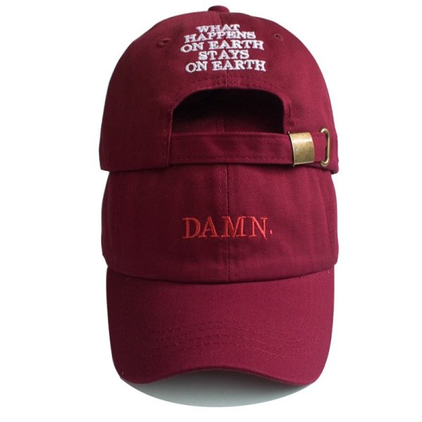 Unisex Spring summer DAMN Hats Embroidered Earth Dad Hat Hip Hop cap Kendrick lamar Rapper Snapback hats Baseball Cap wholesale 1
