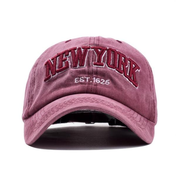 Sand washed 100% cotton baseball cap hat for women men vintage dad hat NEW YORK embroidery letter outdoor sports caps 6
