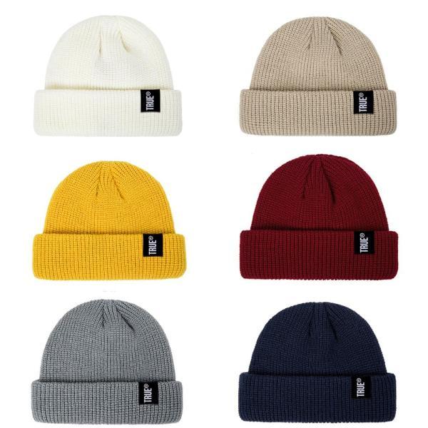 2019 Fashion Unisex Winter Hat Men Cuffed Cib Knit Hat Short Melon Ski Beanies Autumn Winter Solid Color Casual Beanie Hat 10