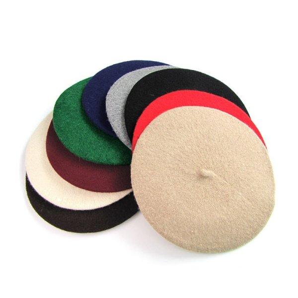 Elegant Lady Women Wool Felt Warm French Classic Beret Beanie Slouch Hat Cap Tam 12