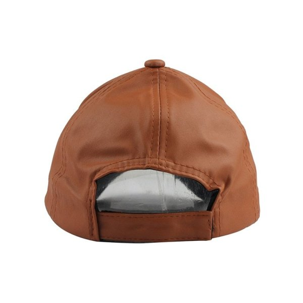 FETSBUY New High Quality Leather Cap Biker Trucker Caps PU Solid Color HIP HOP Snapback Baseball Cap Fitted Adjustable Hat 2017 4