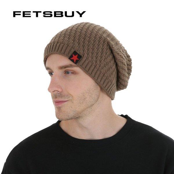 FETSBUY Winter Hats Skullies Beanies Hat Winter Beanies For Men Women Wool Scarf Caps Balaclava Mask Gorras Bonnet Knitted#19007 2