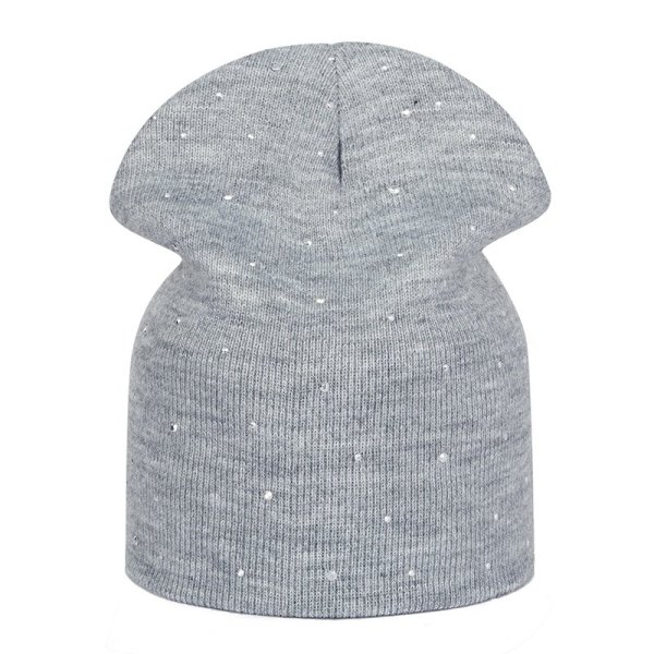 New Pearl Winter Skullies Beanies Hat Women Solid Color Knitted Cotton Female Winter Beanies Caps Soft Warm Hats Ladies Bonnet 6