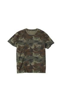 SIMWOOD 2019 summer new camouflage t shirt men ripped detail Skulls pattern t-shirt fashion Military style hip hop tshirt 190306
