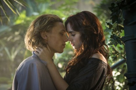 Jamie Campbell Bower as Jace, Lily Collins as Clary