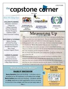 Capstone Corner Newsletter