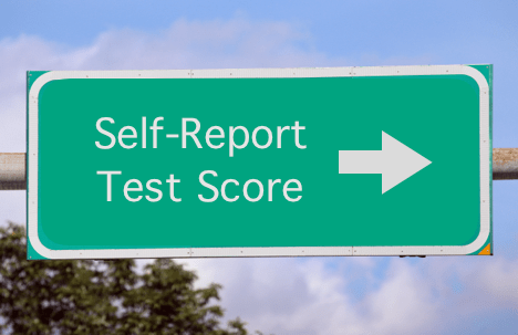 Self-Reported Test Score
