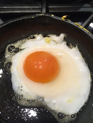Look at the yolk on that egg!!