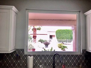 awning window over kitchen sink