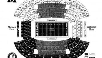 Alabama and Michigan at Cowboys Stadium Map