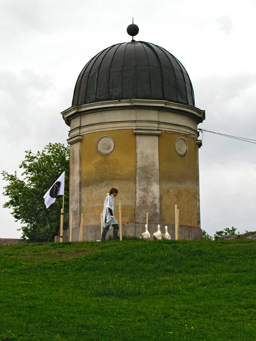 Agnes and the Moon Geese on their stop in Helsinki, URSA observatory
