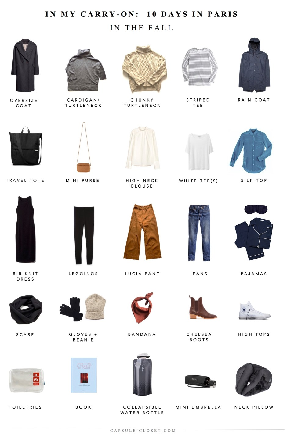Packing list: Paris in the fall