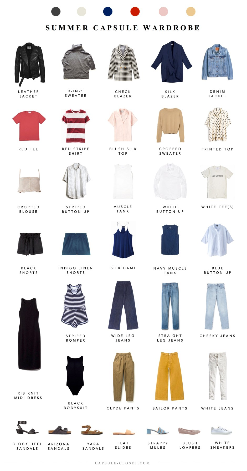 Summer 2018 Capsule Wardrobe, Part I