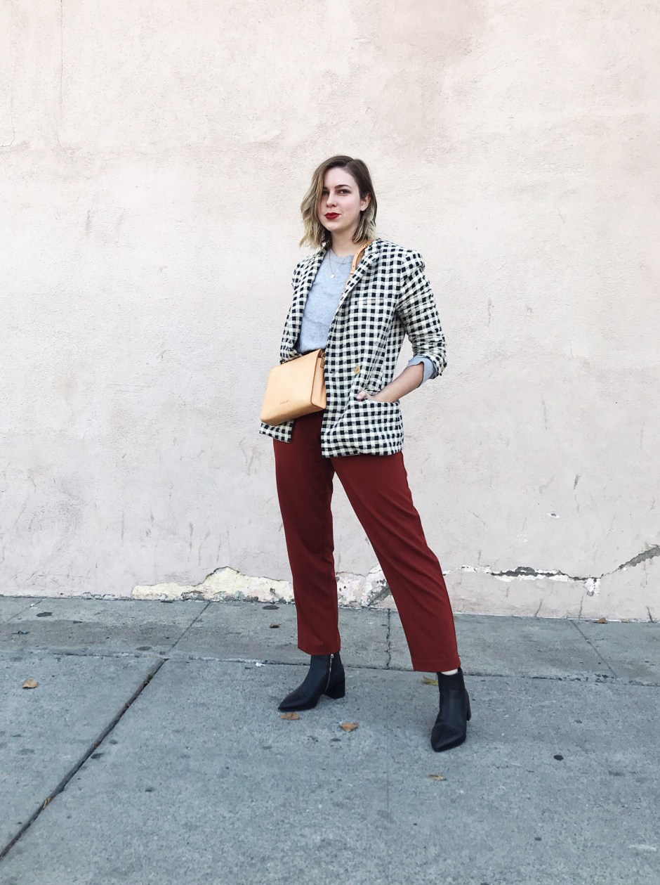 tomboy holiday party outfits with findlay – capsule closet