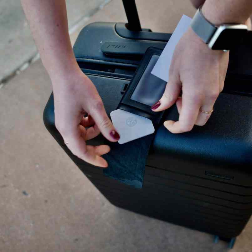 tile tracker suitcase