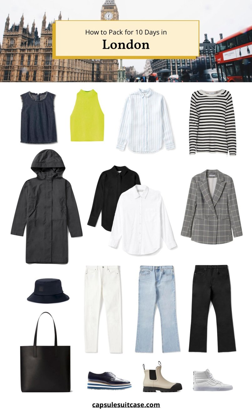 how to pack for London