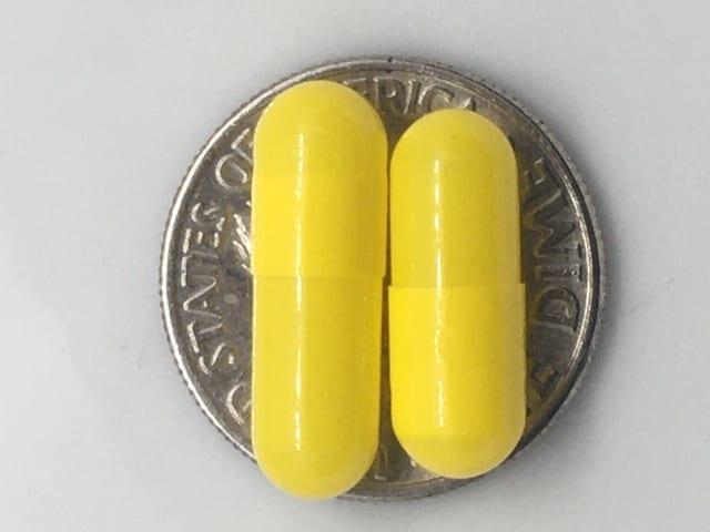 Yellow Empty Gelatin Capsules   Size 4 Gelcaps   Capsule USA