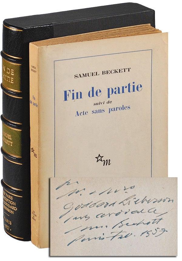 Samuel Beckett Fin De Partie : samuel, beckett, partie, PARTIE,, SUIVI, PAROLES, ENDGAME,, FOLLOWED, WITHOUT, WORDS, INSCRIBED, GODDARD, LIEBERSON, Samuel, Beckett, First, Edition