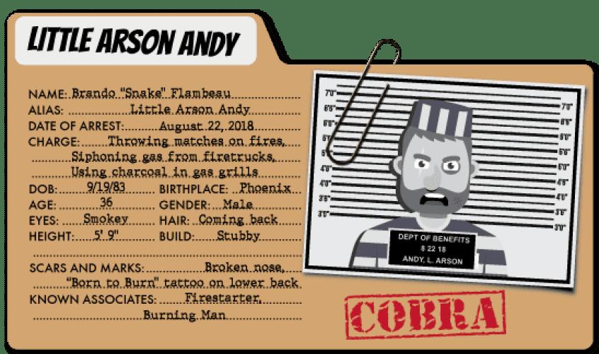 Captain Contributor vs. Arson Andy
