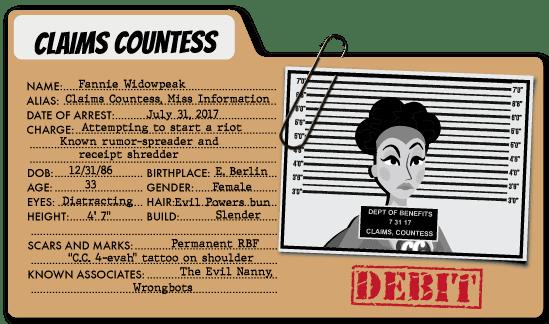Claims Countess - Healthcare Expenses Villain