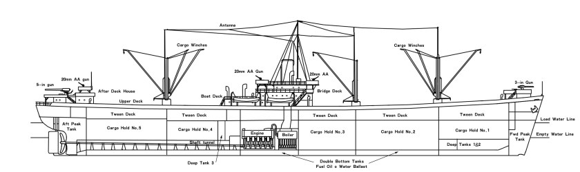 General Layout, Midship Section & Profile View – Captain Damley