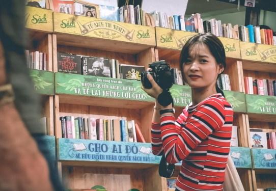 Feel the vibe of Saigon book street
