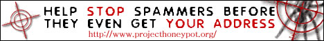 Stop Spam Harvesters, Join Project Honey Pot